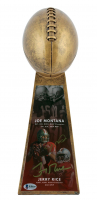 "Joe Montana & Jerry Rice Signed 15"" Football Championship Trophy (Beckett COA) at PristineAuction.com"