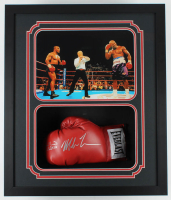 Mike Tyson & Evander Holyfield Signed 22.5x26.25x4.5 Custom Framed Shadowbox Display (JSA COA) at PristineAuction.com
