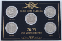 2005 U.S. Statehood Quarter Collection with (5) Coins at PristineAuction.com