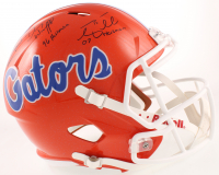 "Tim Tebow, Steve Spurrier & Danny Wuerffel Signed Florida Gators Full-Size Speed Helmet Inscribed ""07 Heisman"", ""96 Heisman"" & ""66 Heisman"" (Beckett COA) at PristineAuction.com"