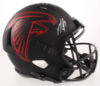 "Michael Vick Signed Falcons Full-Size Eclipse Alternate Speed Helmet Inscribed ""2001 #1 Pick"" (Beckett COA) at PristineAuction.com"