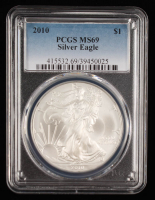 2010 American Silver Eagle $1 One-Dollar Coin (PCGS MS69) at PristineAuction.com