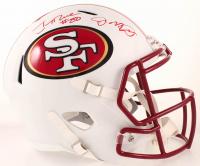 Joe Montana & Jerry Rice Signed 49ers Full-Size Matte White Speed Helmet (Beckett COA) at PristineAuction.com