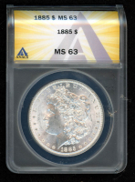 1885 $1 Morgan Silver Dollar (ANACS MS63) at PristineAuction.com
