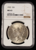 1922 Peace Silver Dollar (NGC MS63) at PristineAuction.com