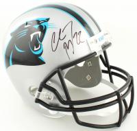 Christian McCaffrey Signed Panthers Full-Size Helmet (Beckett Hologram) at PristineAuction.com