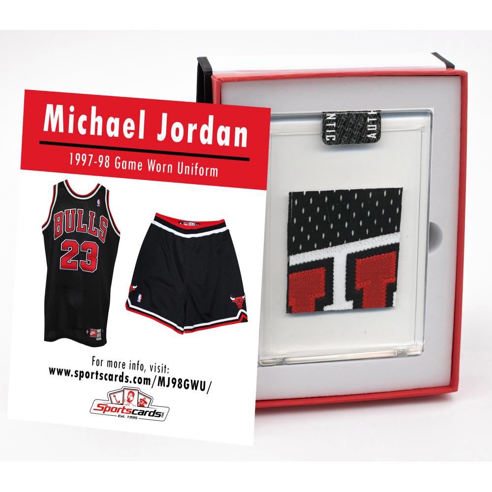 AUCTION - MICHAEL JORDAN 1997-98 CHICAGO BULLS GAME-WORN JERSEY MYSTERY SWATCH BOX!