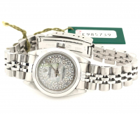 Rolex Diamond Oyster Perpetual Women's Wristwatch with Box & Papers at PristineAuction.com