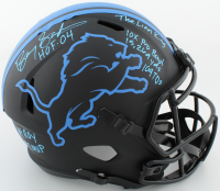 Barry Sanders Signed Lions Full-Size Eclipse Alternate Speed Helmet with Multiple Inscriptions (Schwartz COA) at PristineAuction.com