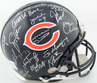 "1985 Chicago Bears Super Bowl XX Logo Full-Size Authentic On-Field Helmet Team-Signed by (31) with Mike Ditka, Dan Hampton, Mike Singletary, Richard Dent Inscribed ""MVP XX"" & ""S.B. XX"" (Schwartz COA) at PristineAuction.com"