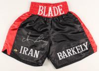 Iran Barkley Signed Boxing Trunks (MAB Hologram) at PristineAuction.com