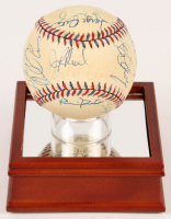 1995 All-Star Game Baseball signed by (25) With Orlando Cepeda, Harmon Killebrew, Robin Roberts, Earl Weaver With Display Base (PSA LOA) at PristineAuction.com