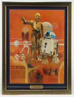 "Vintage 1977 Star Wars Coca-Cola ""R2-D2 & C-3PO"" 23x30 Custom Framed Poster Display at PristineAuction.com"
