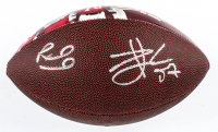 Patrick Mahomes & Travis Kelce Signed NFL 100th Season Legacy Art Football (Beckett COA) at PristineAuction.com