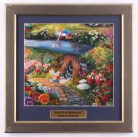 "Thomas Kinkade ""Alice In Wonderland"" 16.5x17 Custom Framed Print Display at PristineAuction.com"
