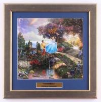 "Thomas Kinkade ""Cinderella"" 16.5x17 Custom Framed Print Display at PristineAuction.com"