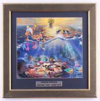 "Thomas Kinkade ""The Little Mermaid"" 16.5x17 Custom Framed Print Display at PristineAuction.com"