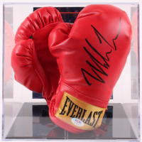 Mike Tyson Signed Everlast Boxing Gloves with Photo Display Case (PSA COA) at PristineAuction.com