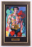 "Leroy Neiman ""Rocky"" 12.5x18.5 Custom Framed Print Display at PristineAuction.com"