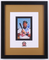 Kirby Puckett Signed Minnesota Twins 12.5x15.5 Custom Framed Photo Display with HOF Induction Pin (JSA COA) at PristineAuction.com