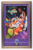 """Space Jam"" 17x26 Custom Framed Movie Poster Display with Vintage Pre Movie Release Pin at PristineAuction.com"