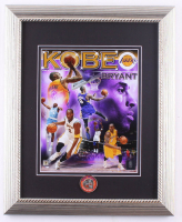 Kobe Bryant Lakers 13x16 Custom Framed Photo Display with Hall of Fame Pin at PristineAuction.com
