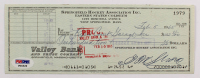 Eddie Shore Signed 1965 Personal Bank Check (PSA LOA) at PristineAuction.com