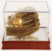 """Pete Rose Signed Mini Golden Glove Inscribed """"69 G.G."""" With High-Quality Display Case (PSA COA) at PristineAuction.com"""