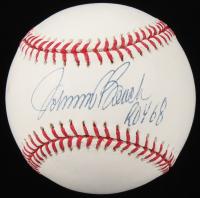 "Johnny Bench Signed OML Baseball Inscribed ""ROY 68"" (MLB Hologram) at PristineAuction.com"