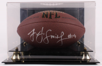 JuJu Smith-Schuster Signed NFL Football With Display Case (JSA COA) at PristineAuction.com