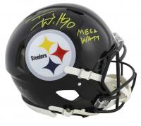 "T.J. Watt Signed Steelers Full-Size Authentic On-Field Speed Helmet Inscribed ""Mega Watt"" (JSA COA) at PristineAuction.com"