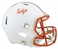 Baker Mayfield Signed Browns Full-Size Matte White Speed Helmet (Beckett COA) at PristineAuction.com