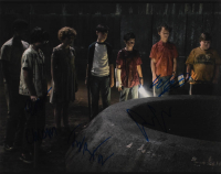 """""""IT"""" 11x14 Photo Cast-Signed by (5) with Chosen Jacobs, Finn Wolfhard, Jeremy Ray Taylor, Sophia Lillis, & Wyatt Oleff (AutographCOA Hologram) at PristineAuction.com"""