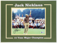 Jack Nicklaus Signed 12x16 Custom Matted Photo (Beckett LOA) at PristineAuction.com