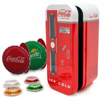 2020 Coca-Cola Vending Machine 4 Silver Bottle Cap Coin Set at PristineAuction.com