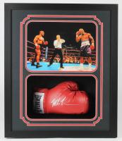 Mike Tyson & Evander Holyfield Signed 22.5x26.25x4.5 Custom Framed Shadowbox Display (JSA COA) at PristineAuction.com