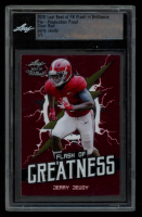Jerry Jeudy 2020 Leaf Best of FB Flash of Brilliance Pre-Production Proof Clear Red #1 / 1 (Leaf Encapsulated) at PristineAuction.com