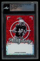 Jacob Eason 2020 Leaf Flash Draft Photography Pre-Production Proof Prismatic Red #1 / 1 (Leaf Encapsulated) at PristineAuction.com