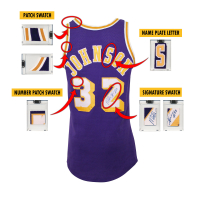 MAGIC JOHNSON 1980'S LA LAKERS GAME-WORN JERSEY MYSTERY SWATCH BOX! at PristineAuction.com