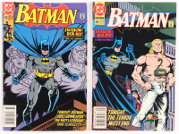 """Lot of (2) 1991 """"Batman Shadow Box"""" DC Comic Books with Part Two #468 & Part Three #469 at PristineAuction.com"""