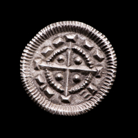 """Bela II """"the Blind King"""" (1131-1141) Silver Denar - Coin of the Medieval Crusades at PristineAuction.com"""