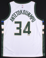 Giannis Antetokounmpo Signed Bucks Nike Jersey (Beckett COA) at PristineAuction.com
