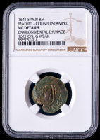 Philip IV 1641 Spain 8 Maravedis - Spanish Colonial Cob Coin (NGC VG Details) at PristineAuction.com