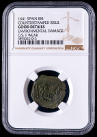 Philip IV 1641 Spain 8 Maravedis - Spanish Colonial Cob Coin (NGC Good Details) at PristineAuction.com