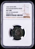 Philip IV 1652 Spain 8 Maravedis - Spanish Colonial Cob Coin (NGC AG3 BN) at PristineAuction.com