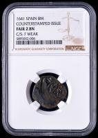 Philip IV 1641 Spain 8 Maravedis - Spanish Colonial Cob Coin (NGC FR2 BN) at PristineAuction.com