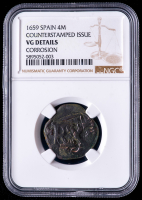 Philip IV 1659 Spain 4 Maravedis - Spanish Colonial Cob Coin (NGC VG Details) at PristineAuction.com
