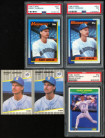 Lot of (5) Randy Johnson Baseball Cards with (2) 1989 Fleer Update #59, (2) 1990 Topps #431 (PSA 7) & 1990 Score Rising Stars #52 (PSA 9) at PristineAuction.com