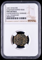 Philip IV 1641 Spain 8 Maravedis - Spanish Colonial Cob Coin (NGC Fine Details) at PristineAuction.com