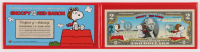 The Peanuts Colorized $2 Commemorative Bank Note at PristineAuction.com